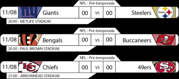 Preseason - Semana 1 - 2017-08-11 -Jogos