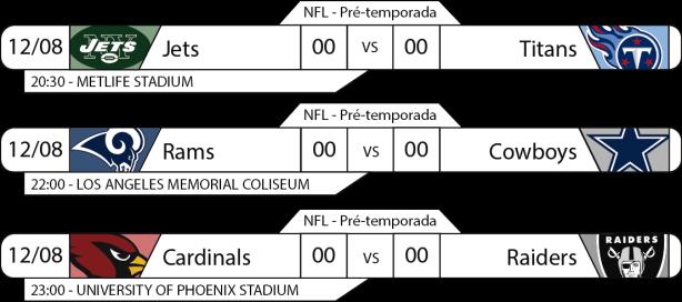 Preseason - Semana 1 - 2017-08-12 -Jogos