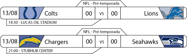 Preseason - Semana 1 - 2017-08-13 -Jogos