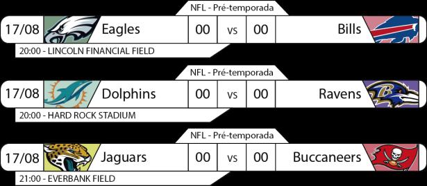 Preseason - Semana 2 - 2017-08-17 -Jogos