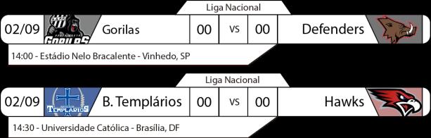 TPFA - Liga Nacional - 2017-09-02 - Brasil - Jogos