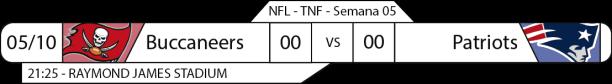 TPFA - 2017-10-05 - Semana 05 - Thursday Night Football - Buccaneers x Patriots
