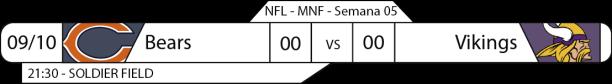 TPFA - 2017-10-08 - Semana 05 - Monday Night Football - Bears x Vikings