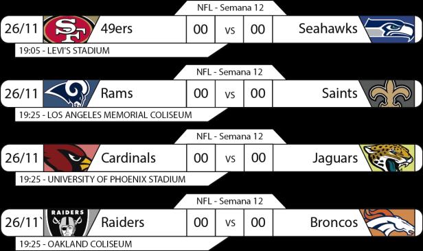TPFA - NFL - 2017-11-29 - Jogos 19h