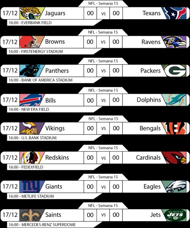 TPFA - NFL - 2017-12-17 - Jogos 16h