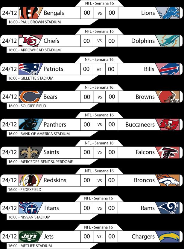 TPFA - NFL - 2017-12-24 - Jogos - 16h