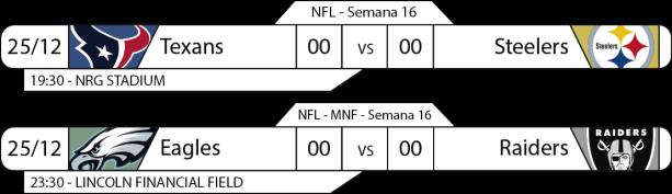 TPFA - NFL - 2017-12-25 - Jogos - Segunda