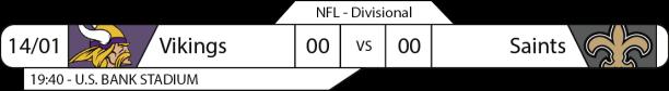 TPFA - NFL - Playoffs - 2017-01-14 - Divisional NFC - Vikings x Saints