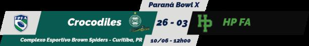TPFA - 2018-06-10 - Paranaense - Paraná Bowl X - Resultado
