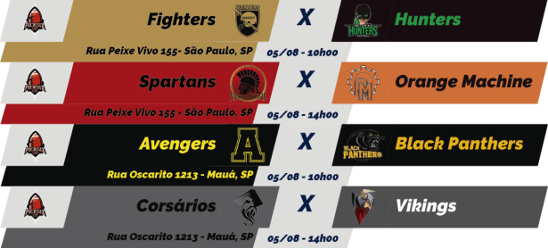 TPFA - Pick Six - 2018-08-05 - Jogos