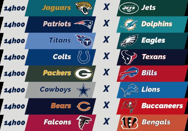 TPFA - NFL - 2018-09-30 - Semana 04 - Jogos 14h