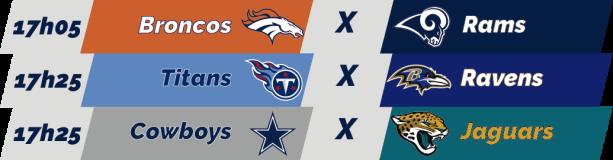 TPFA - NFL - 2018-10-14 - Semana 06 - Jogos 17h