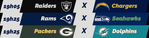 TPFA - NFL - 2018-11-11 - Semana 10 - Jogos 19h