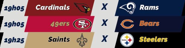 TPFA - NFL - 2018-12-23 - Semana 16 - Jogos 19h
